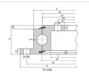 转盘轴承的结构归类和承重特性